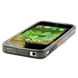 Smoke Argyle TPU Rubber Skin Case Cover+PRIVACY LCD Protector for