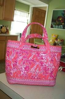 Vera Bradley Retired Hope Toile Little Toggle Tote