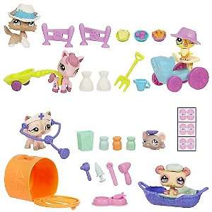 Hasbro Littlest Pet Shop Themed Play Packs Wave 1 Set