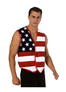 Stars and Stripes American Flag Vest  Cheap Historic/Patriotic