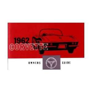 1962 CHEVROLET CORVETTE Owners Manual User Guide