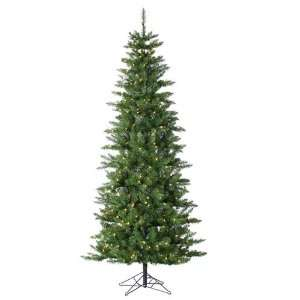 Pre Lit Slim Augusta Pine Artificial Christmas Tree   Clear