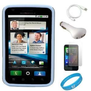 AT&T Android Smartphone + White USB Car Charger + White micro USB Data