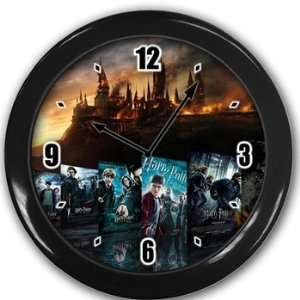 Harry Potter Wall Clock Black Great Unique Gift Idea