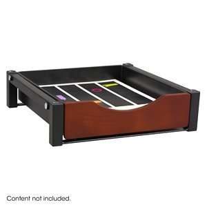 Safco Single Drawer Flipper Cabinet Organizer in Cherry