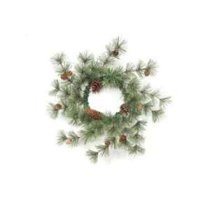 6 Rustic Lodge Artificial Pine w/Pine Cones Christmas Wreaths