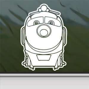 Chuggington White Sticker Car Laptop Vinyl Window White