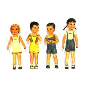 Ann and Friends Nursery School Paper Dolls (Set of 4