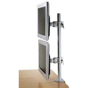 LCD 196A Vertical Dual LCD Monitor Desk Mount Stand