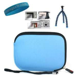 Blue Mini Camcorder scratch proof Case for Panasonic TA1 Ultrathin HD