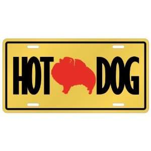 New  Pomeranians   Hot Dog  License Plate Dog