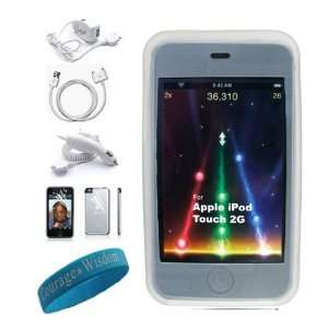 in 1 itouch kit with Clear Silicone skin cover for Apple ipod Touch