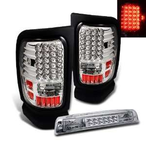 94 01 Dodge Ram LED Tail Lights+Third LED Brake Light Automotive