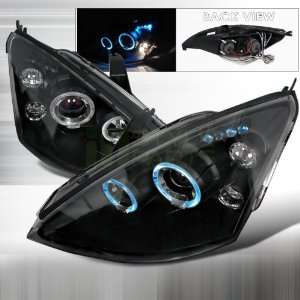 2000 2004 Ford Focus Halo Led Projector Headlights Black Automotive
