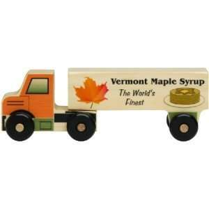 Wooden Semi Truck Vermont Maple Syrup   8 Long Toys & Games