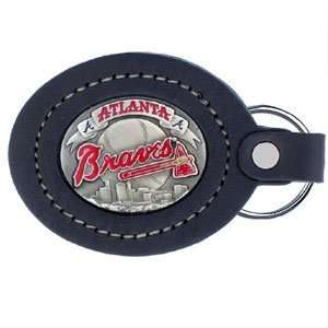Braves MLB Collectors Large Leather Key Ring