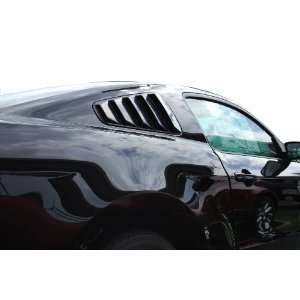 2010 2011 2012 10 11 12 Ford Mustang Painted Quarter Window Louvers