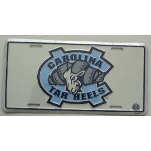 North Carolina Tarheels White 6 x 12 Embossed Aluminum License Plate