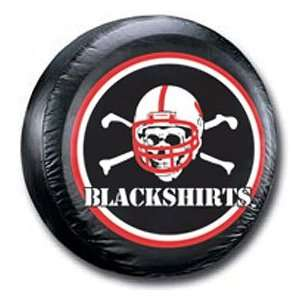 Cornhuskers NCAA Black Spare Tire Cover Blackshirts