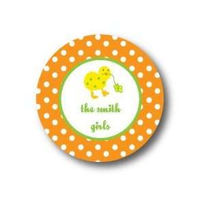Polka Dot Pear Design   Round Stickers (363r) Office