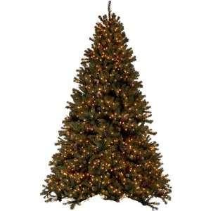 PRE LIT DIAMOND FIR CHRISTMAS TREE   7.5 TALL   CLEAR LIGHTS