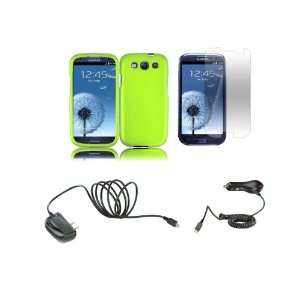 Samsung Galaxy S III Premium Combo Pack   Neon Green Hard Shield Case