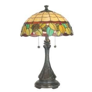 Dale Tiffany TT60569 Lexi Table Lamp, Mica Bronze and Art Glass Shade