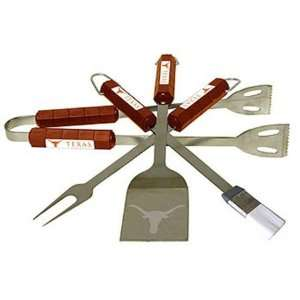 Texas Longhorns UT NCAA Barbeque BBQ Grill Set 4p