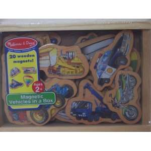 Melissa & Doug 20 Vehicle Magnets in a Box Toys & Games