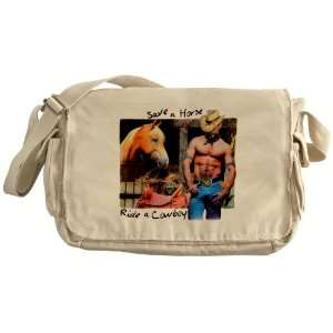 Khaki Messenger Bag Country Western Cowgirl Save A Horse