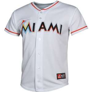 Miami Marlins Youth Replica Screen Jersey   White