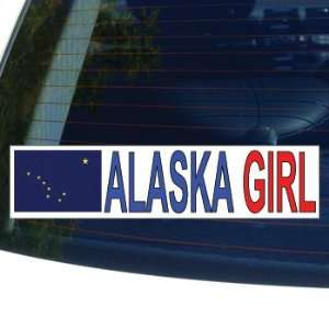 ALASKA GIRL   flag   Window Bumper Laptop Sticker