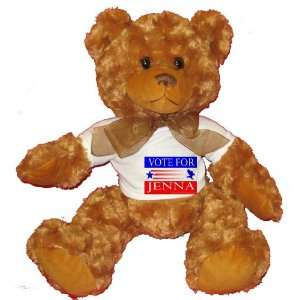 VOTE FOR JENNA Plush Teddy Bear with WHITE T Shirt Toys