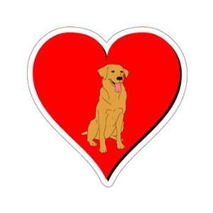 Golden Retriever Love   Window Bumper Sticker Automotive
