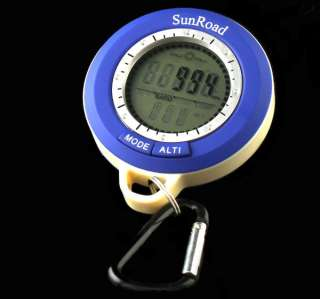 In1 Mini LED Digital Altimeter Barometer Compass Clock Thermometer