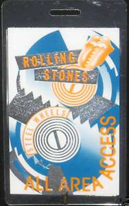 ROLLING STONES 1989 STEEL WHEELS TOUR LAMINATED PASS