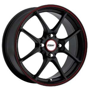 Black w/ Red Stripe) Wheels/Rims 4x100 (1670TRC454100B72) Automotive