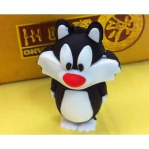 Cute Sylvester USB Flash Drive with Key Chain