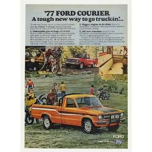 1977 Ford Free Wheeling Courier Pickup Truck Print Ad