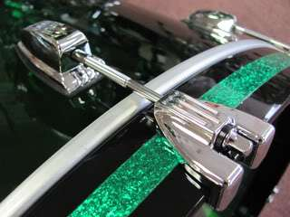 Ludwig Vistalite Drum Set Green 22 3 Piece Shell Pack