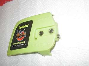 POULAN 3314 WOODSHARK CHAINSAW SIDE CLUTCH COVER WITH GOOD CHAIN