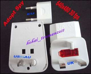 /AU adapter charger plug HD spy camera Video recorder Motion Detector